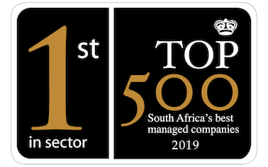 Honeycomb BEE Ratings awarded 1st place in Top500 2019 companies list